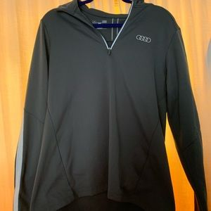 Under armor Audi gray quarter zip